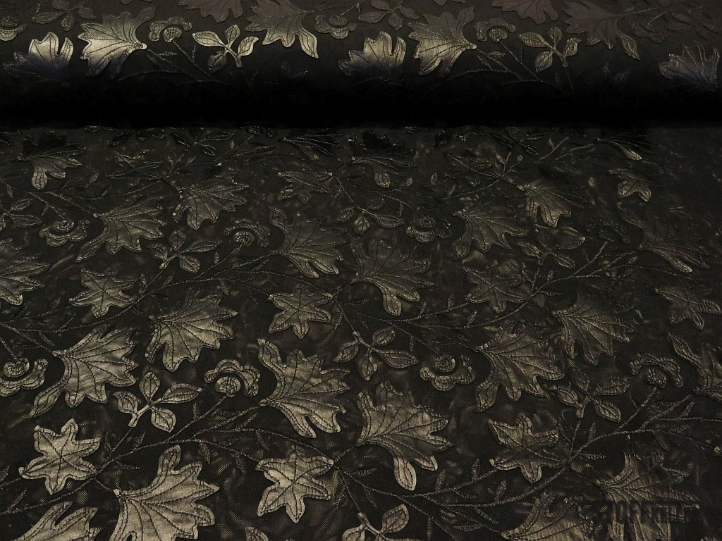 stretch t ll leder applikation schwarz 25 00 eur. Black Bedroom Furniture Sets. Home Design Ideas